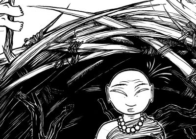 Monk 1-detail