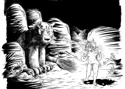 Tsa and Lion